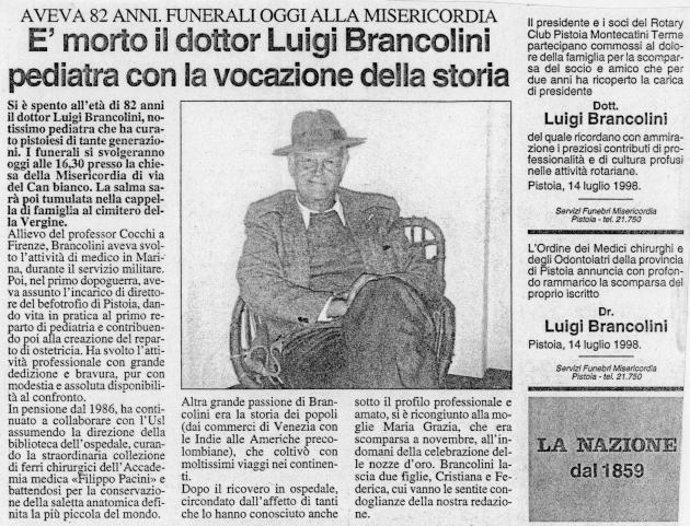 """Da """"La Nazione"""" 14 Luglio 1998"""