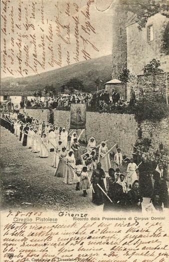 Cireglio 1903 Processione del Corpus Domini