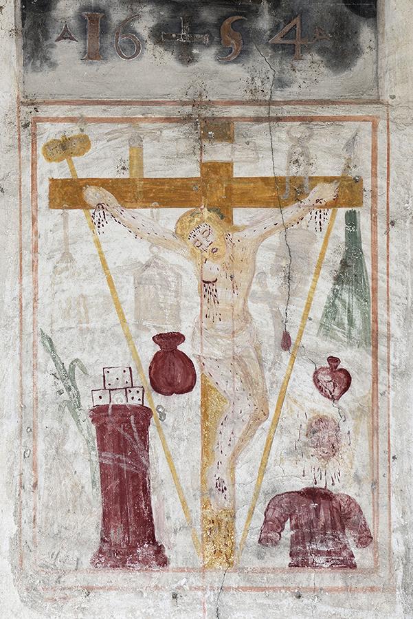 """La Cure de Chevrot (AO), Facciata della Chiesa  di Saint Jean -  45°43'24.60""""N 07°17'58.00""""E.jpg"""