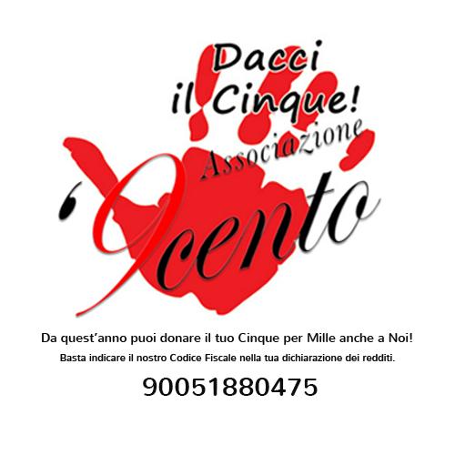 Logo 5x1000 Associazione '9cento