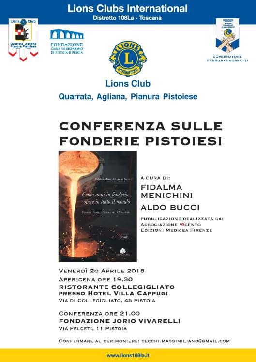 locandina conferenza fonderie