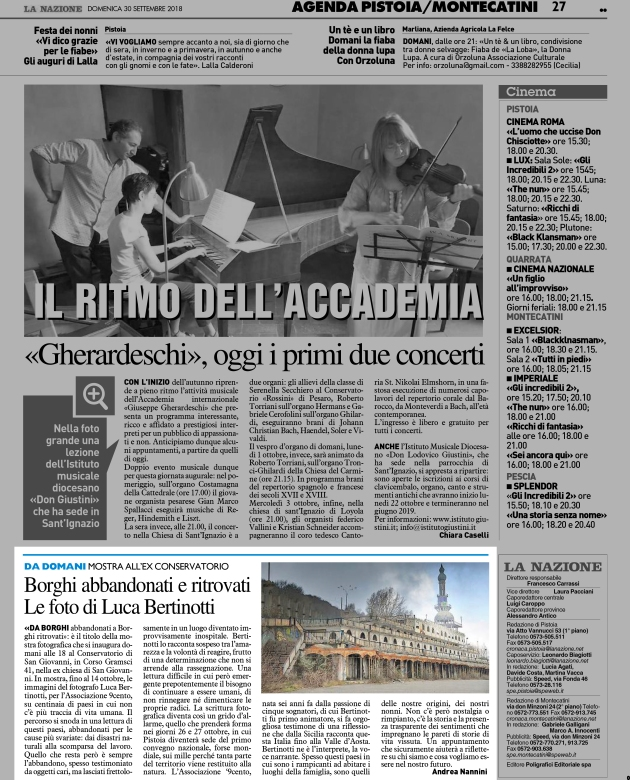 [N-PTM - 27]  NAZIONE/GIORNALE/PIT/26 ... 30/09/18