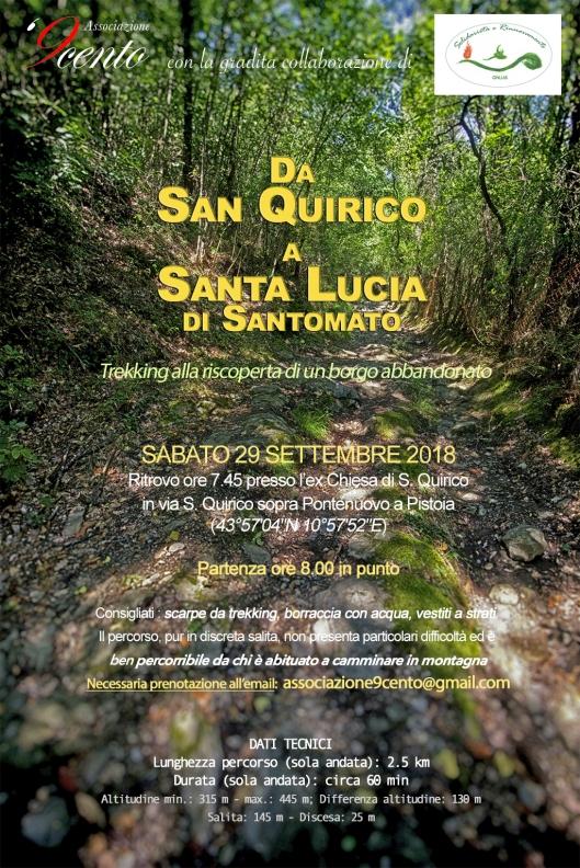 Da San Quirico a Santa Lucia. Camminata_rid