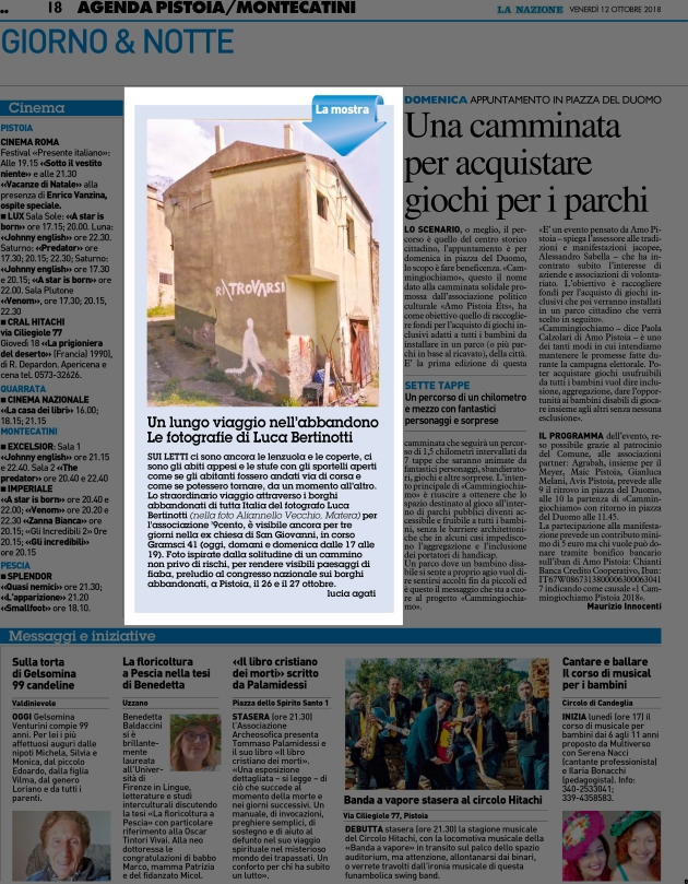 [N-PTM - 18]  NAZIONE/GIORNALE/PIT/18 ... 12/10/18